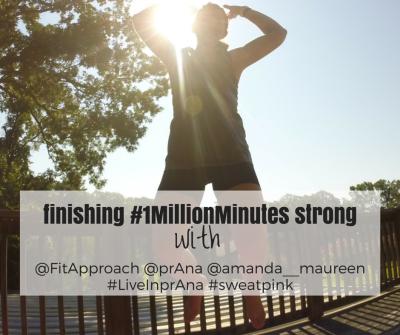 Sweat Pink, prAna, 1 Million Minutes, Goals