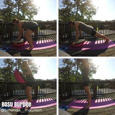 BOSU Burpee, Total Body Workout, BOSU, Workout Wednesday, Strength Training