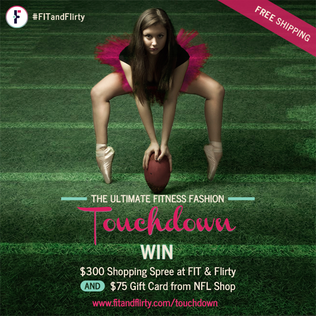 FIT & Flirty, Fitness Fashionista, Sweat Pink, NFL, Giveaway