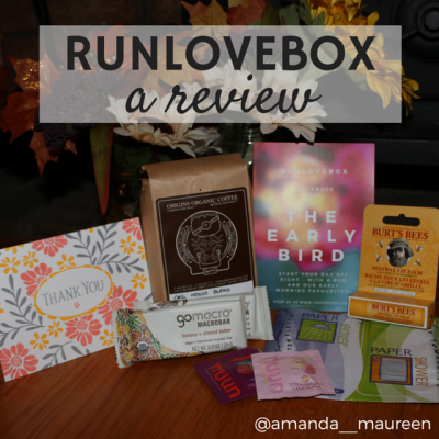 RUNLOVEBOX, Review, Running, Go Macro, Nuun, Burt's Bees, Paper Shower, Organic Coffee