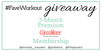 Grokker, Giveaway, Online Workout, Fitness