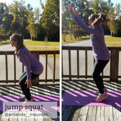 Workout Wednesday, Leg Workout, HIIT, Jump Squat