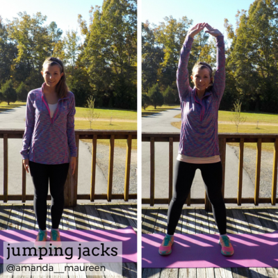 Fitness, HIIT, Sweat Pink, Workout Wednesday, jumping jacks