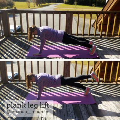 Workout Wednesday, Leg Workout, HIIT, Plank Leg Lift