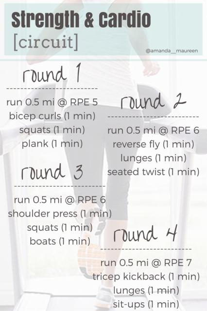 Strength & Cardio Circuit, Workout Wednesday, Run, Interval Training, Strength Training